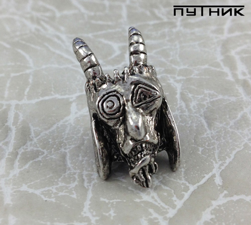 Бусина Schmuckatelli USN Tactical Goat Bead Antique Rhodium