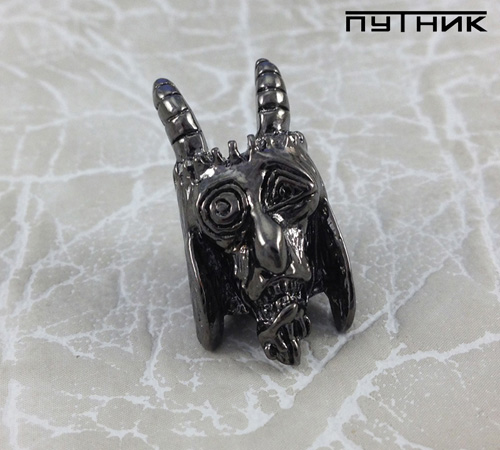 Бусина Schmuckatelli USN Tactical Goat Bead Hematite