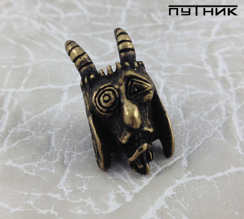 Бусина Schmuckatelli USN Tactical Goat Bead Roman Brass Oxide