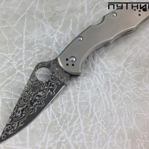Spyderco Delica Titanium Damascus C11TIPD