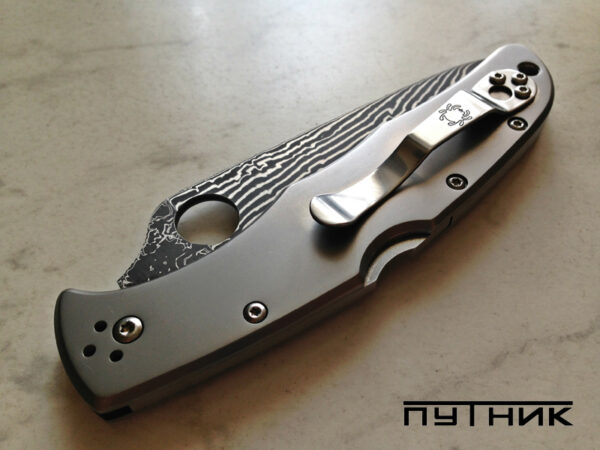 Spyderco Endura Titanium Damascus C10TIPD