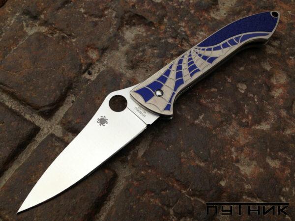Spyderco Mike Draper Folder Ti Blue C171TIBLP