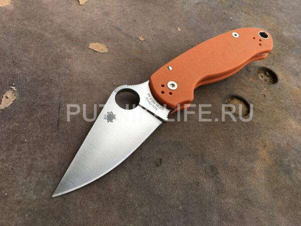 Spyderco Para 3 REX 45 Burnt Orange C223GPBORE