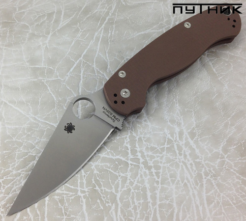 Spyderco ParaMilitary 2 S35VN Earth Brown C81GPBN2