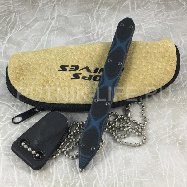 Тактическая ручка TOPS SOP Elite Blue/Black G10